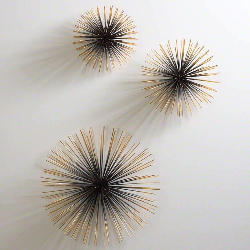 Boom Wall Sculpture-Brass-Sm