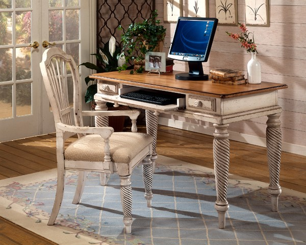 HILLSDALE FURNITURE Wilshire Desk Antique White - HILLSDALE FURNITURE Wilshire Desk Antique White 4508D Home