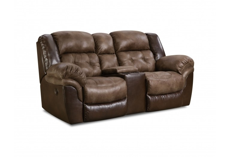 HOMESTRETCH Reclining Console Loveseat