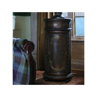 Tall Round Accent Cabinet