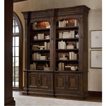 Adagio Double Bookcase (w/out ladder & rail)
