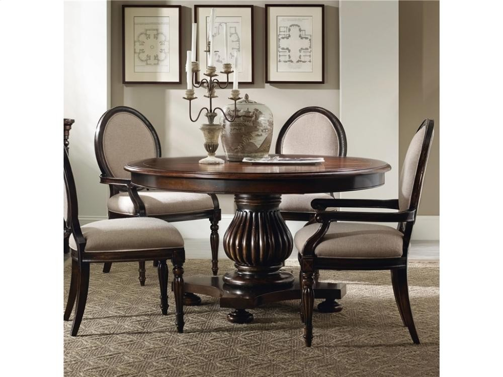Eastridge Inch Round Pedestal Dining Table Win Leaf - 54 inch round table with leaf