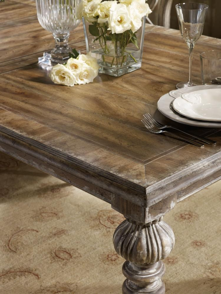 Chatelet Rectangle Leg Dining Table with Two 18
