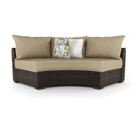 Spring Ridge - Beige/Brown - Curved Corner Chair w/Cushion