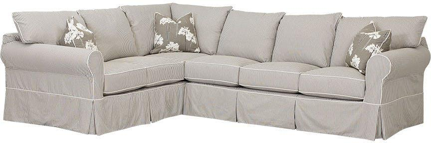 Klaussner Living Room Jenny Sectional D16100 Fab Sect