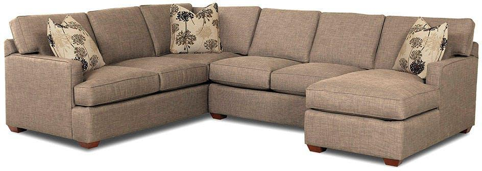KLAUSSNER Living Room Loomis Fabric Sectional K29000-FAB-SECT