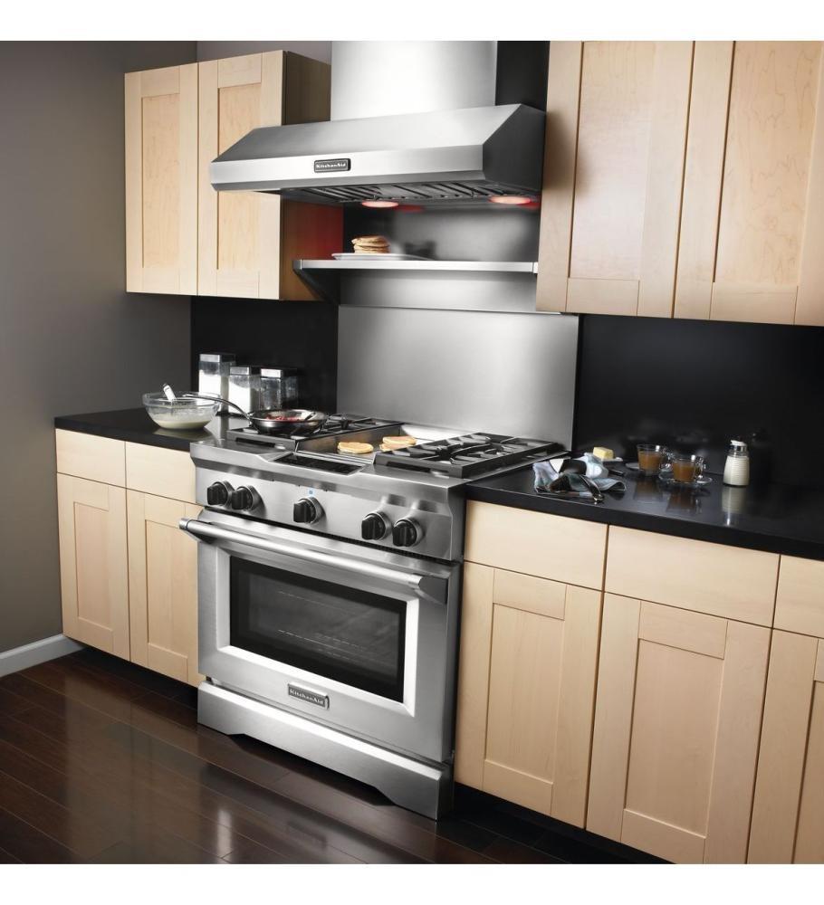 Kitchen Shelf Above Cooker: KITCHENAID Tall Backguard With Dual Position Shelf