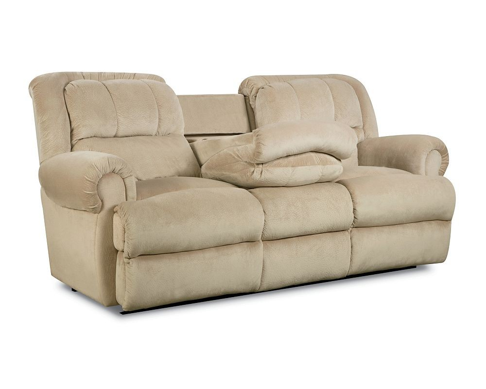 Evans Double Reclining Sofa With Fold Down Tray Table 32346 Sofa