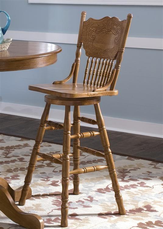 Liberty Furniture Industries 30 Inch Press Back Barstool 10b51730
