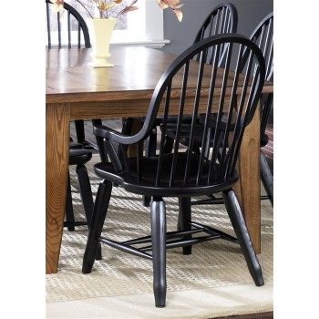 LIBERTY FURNITURE INDUSTRIES Bow Back Arm Chair - Black