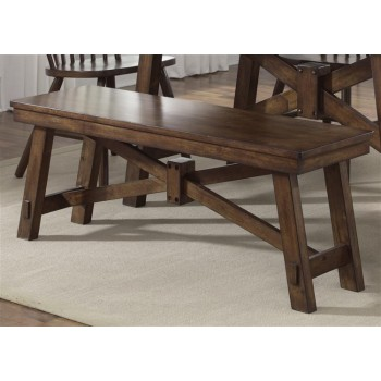 LIBERTY FURNITURE INDUSTRIES Bench - Tobacco