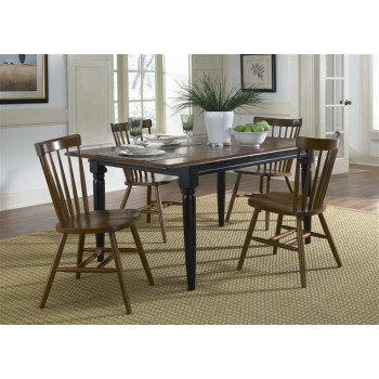 LIBERTY FURNITURE INDUSTRIES Butterfly Leaf Table - Black & Tobacco