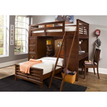 LIBERTY FURNITURE INDUSTRIES Twin Loft Bed w Cork Bed