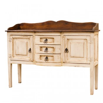 L.M.T. RUSTIC AND WESTERN IMPORTS White/Walnut Henriette Sideboard