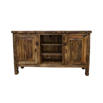 L.M.T. RUSTIC AND WESTERN IMPORTS Natural Colored Wood TV Stand