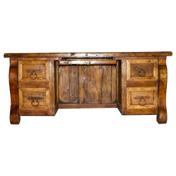 L.M.T. RUSTIC AND WESTERN IMPORTS Desk Credenza With Shelf Drawer