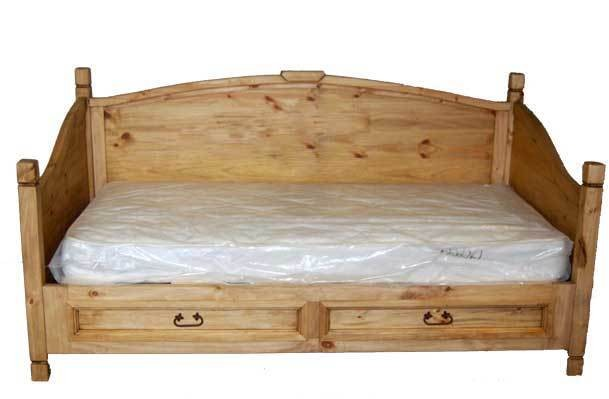 MILLION DOLLAR RUSTIC 2 Drawer Daybed