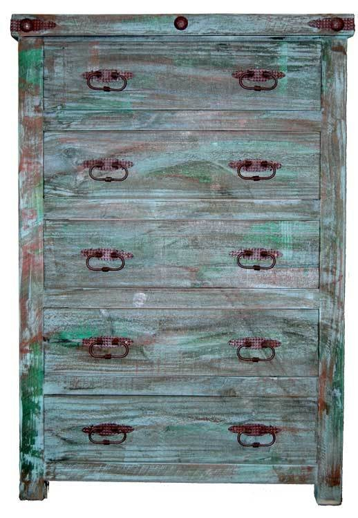 MILLION DOLLAR RUSTIC Painted Reclaimed Look Chest