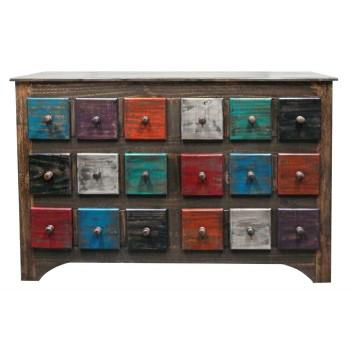 MILLION DOLLAR RUSTIC Arco Multi Color 6 Drawer Dresser