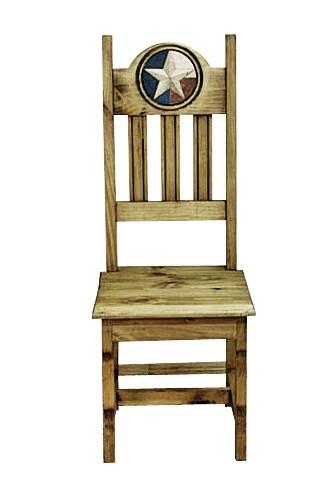 MILLION DOLLAR RUSTIC Wood Seat Lonestar Marble Chair