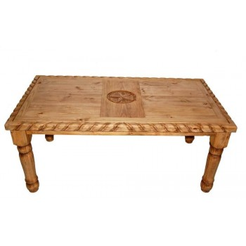 MILLION DOLLAR RUSTIC Rope 6' Table W/star On Top