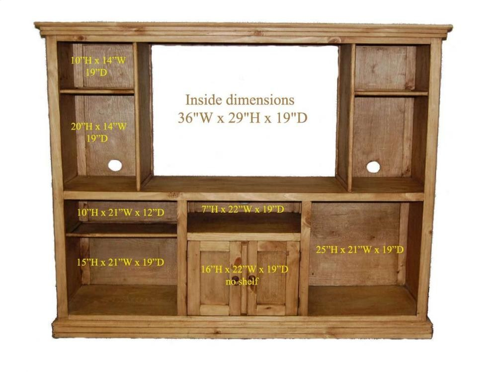 MILLION DOLLAR RUSTIC Entertainment Center Rustic Entertainment Center S93