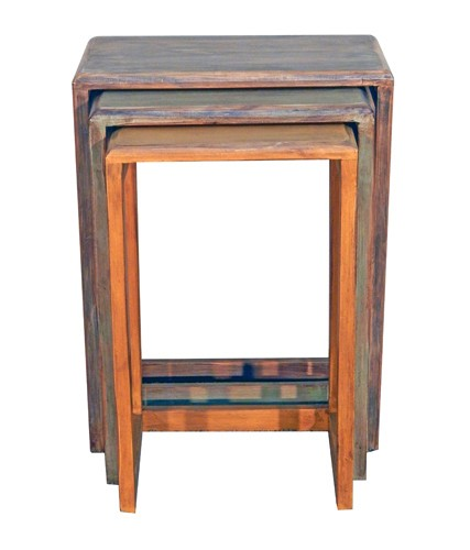 MILLION DOLLAR RUSTIC 3 Colored Nesting Tables