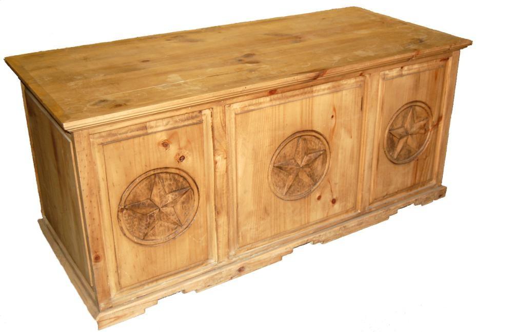 Rustic Americana Hardwood Executive Desk Home Office: MILLION DOLLAR RUSTIC Executive Desk W/star