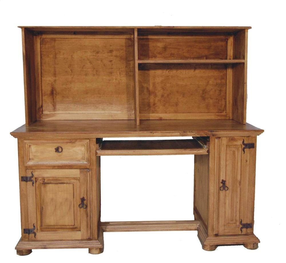Rustic Americana Hardwood Executive Desk Home Office: MILLION DOLLAR RUSTIC Computer Desk W/hutch