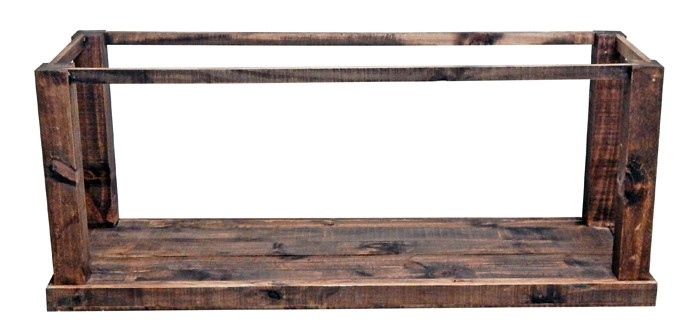MILLION DOLLAR RUSTIC Reclaimed Gun Trunk Sofa Stand