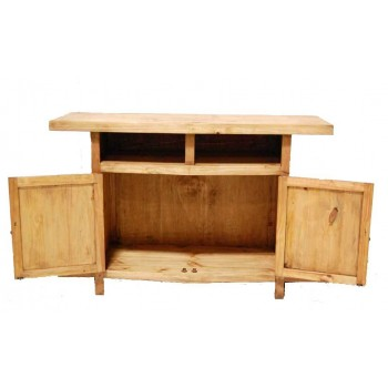 MILLION DOLLAR RUSTIC TV Stand W/ Shelves and Star (star)