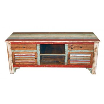 MILLION DOLLAR RUSTIC Multi Color Louvered TV Stand