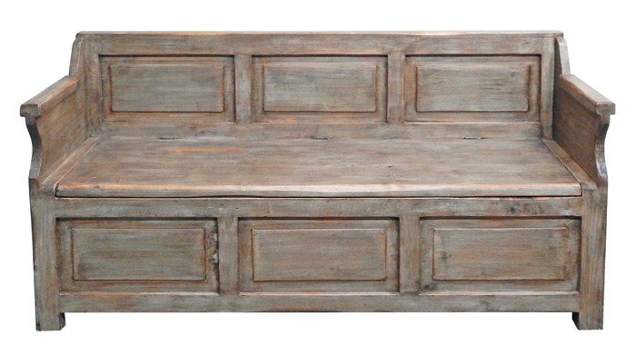 MILLION DOLLAR RUSTIC Driftwood Storage Bench