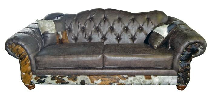 Million Dollar Rustic 4431 Sable Cowhide Sofa 204431sabchsof Reclining Sofas Quality Furniture
