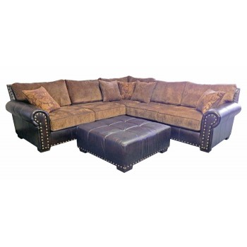 MILLION DOLLAR RUSTIC 661 Sectional W pillows Photos - Awesome rustic sectional sofa In 2018