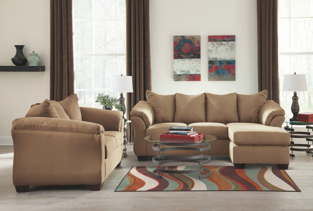 Superb Darcy Mocha Sofa Chaise 7500218 Sofas Furniture Depot Download Free Architecture Designs Scobabritishbridgeorg