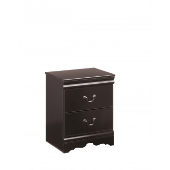 Huey Vineyard - Black - Two Drawer Night Stand