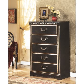 Coal Creek - Dark Brown - Five Drawer Chest