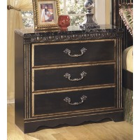 Coal Creek - Dark Brown - Three Drawer Night Stand