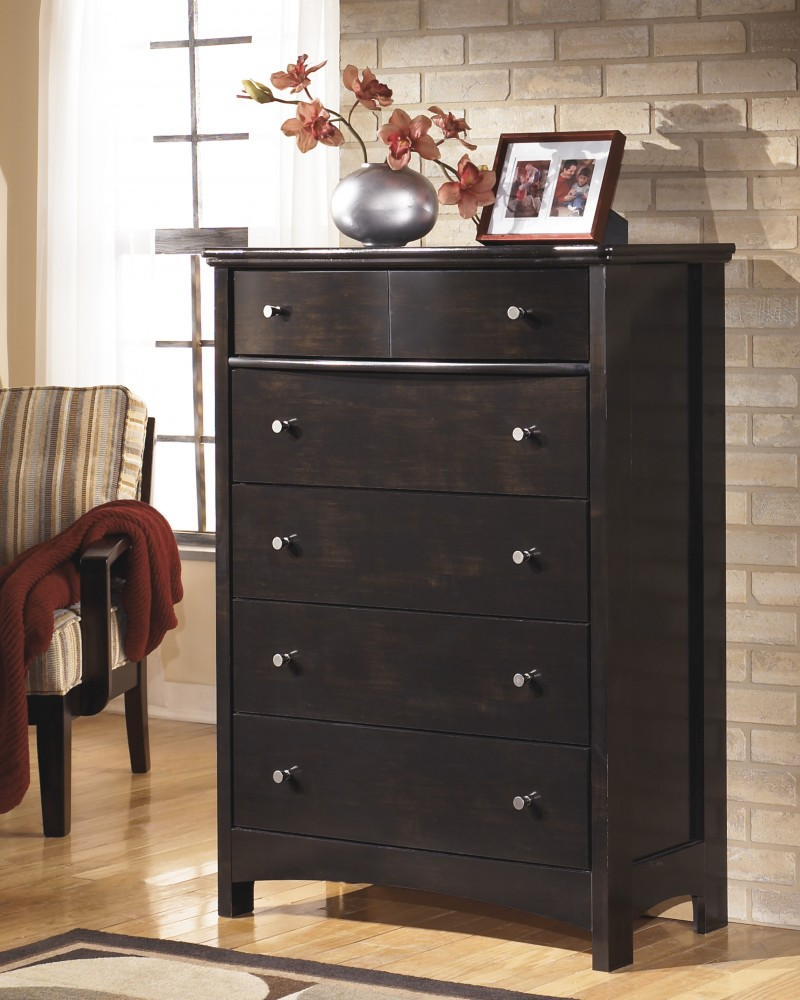 Harmony - Dark Brown - Five Drawer Chest