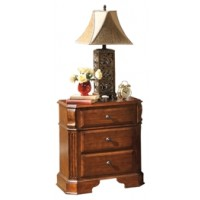 Wyatt - Reddish Brown - Three Drawer Night Stand