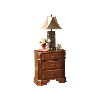 Wyatt - Reddish Brown - Three Drawer Night Stand