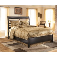 Kira - Almost Black - Queen Panel Footboard