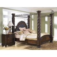 North Shore - Dark Brown - King/Cal King Headboard Posts