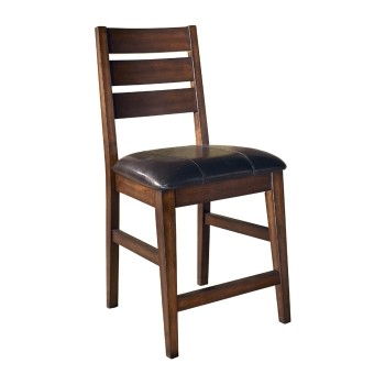 Larchmont Burnished Dark Brown Upholstered Barstool 2
