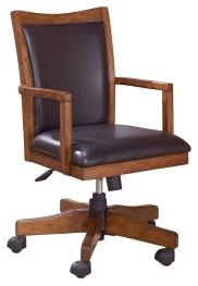 Cross Island - Medium Brown - Home Office Swivel Desk Chair