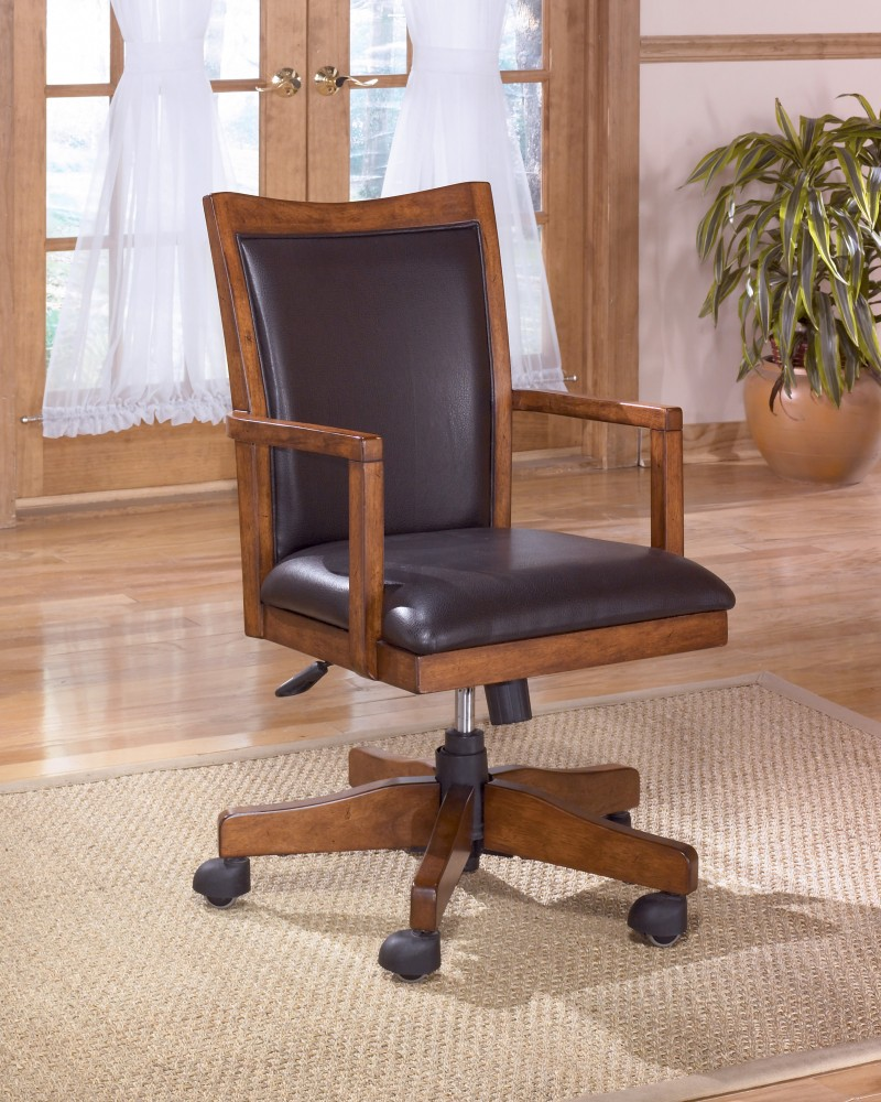 Cross Island - Medium Brown - Home Office Swivel Desk Chair