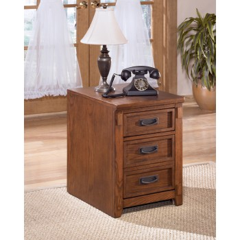 Cross Island - Medium Brown - File Cabinet