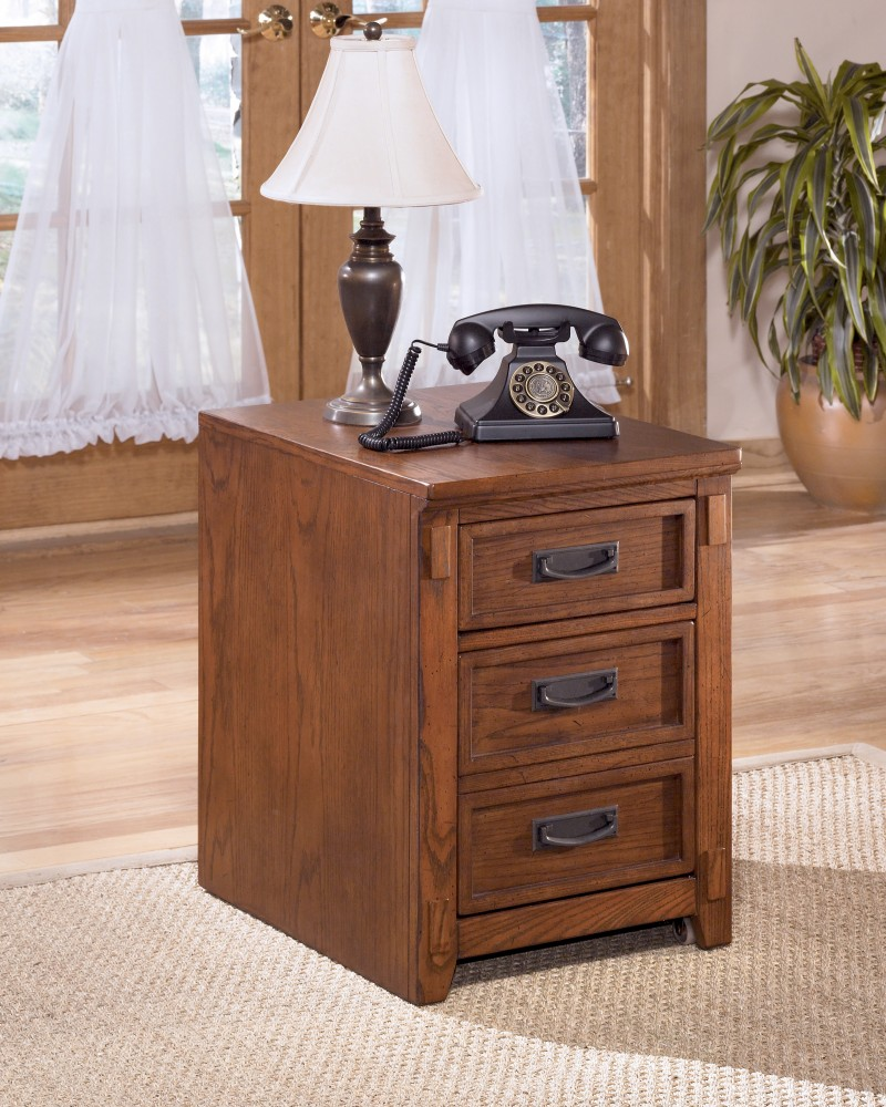 Cross Island   Medium Brown   File Cabinet