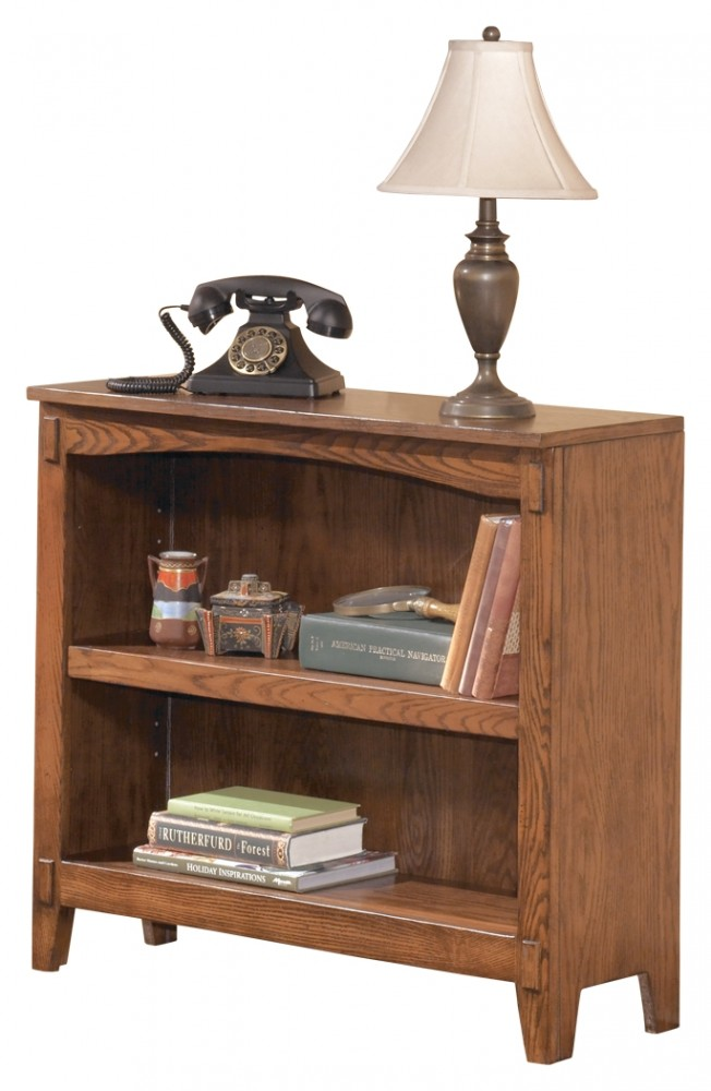 Cross Island - Medium Brown - Small Bookcase